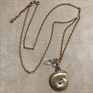Brighton Reef Collection gold shell necklace